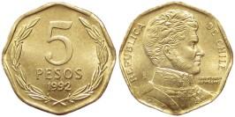 5 песо 1992 Чили