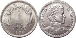 1 песо 1956 Чили