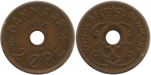 2 эре 1928 Дания — Отметка минцмейстера — N — Niels Peter Nielsen