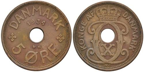 5 эре 1934 Дания