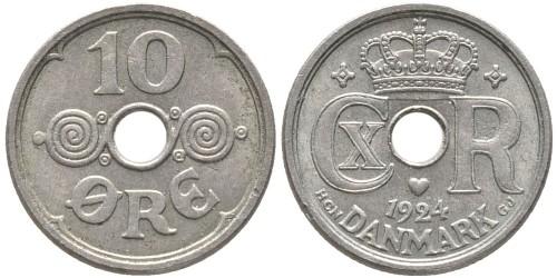 10 эре 1924 Дания