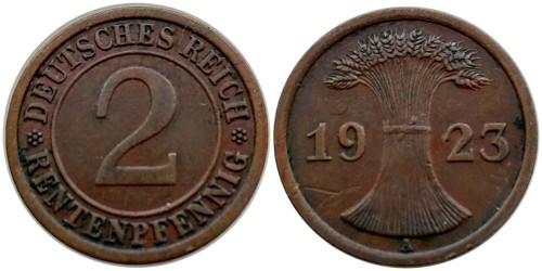 2 рентенпфеннига 1923 «А» Германия