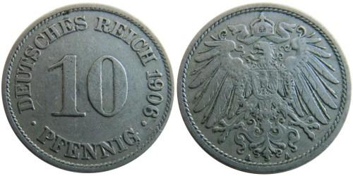 10 пфеннигов 1906 «A» — Германская империя