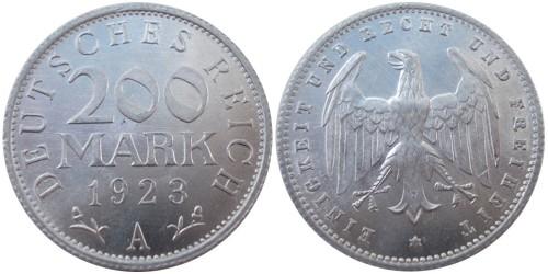 200 марок 1923 Германия — Веймарская республика — A
