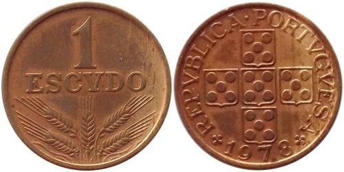 1 эскудо 1978 Португалия