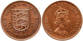 1/12 шиллинга 1960 остров Джерси — 300 лет вступления на престол короля Карла II