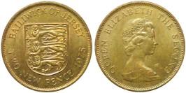 2 новых пенса 1975 остров Джерси