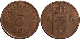 5 эре 1957 Норвегия