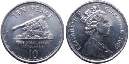10 пенсов 2007 Гибралтар