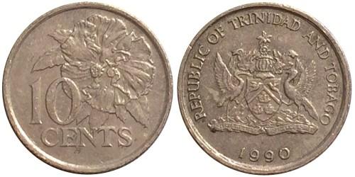10 центов 1990 Тринидад и Тобаго — Гибискус UNC