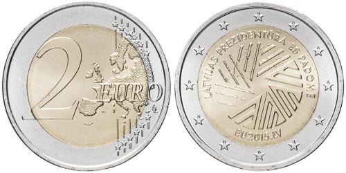2 евро 2015 Латвии — Президентство Латвии в Совете ЕС
