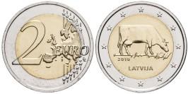 2 евро 2016 Латвии — Латвийская бурая корова