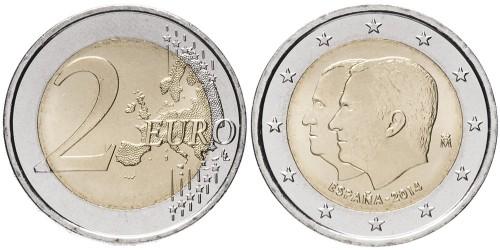 2 евро 2014 Испания — Король Филипп VI