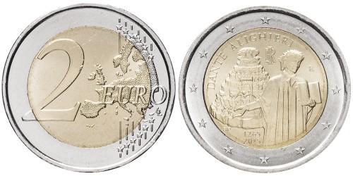 2 евро 2015 Италия — 750 лет со дня рождения Данте Алигьери
