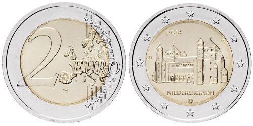 2 евро 2014 «D» Германия — Церковь Св Михаэля — Нижняя Саксония