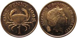 1 пенни 1998 остров Гернси
