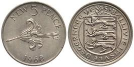 5 новых пенсов 1968 остров Гернси
