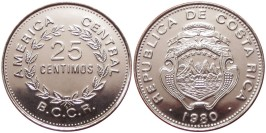 25 сентимо 1980 Коста Рика