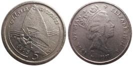 5 пенсов 1991 остров Мэн