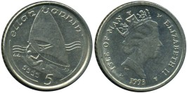 5 пенсов 1993 остров Мэн
