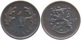 1 марка 1943 Финляндия (медь)