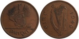 1 пенни 1946 Ирландия
