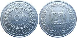 100 центов 1988 Суринам