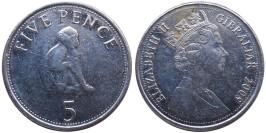5 пенсов 2009 Гибралтар