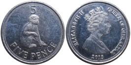 5 пенсов 2013 Гибралтар