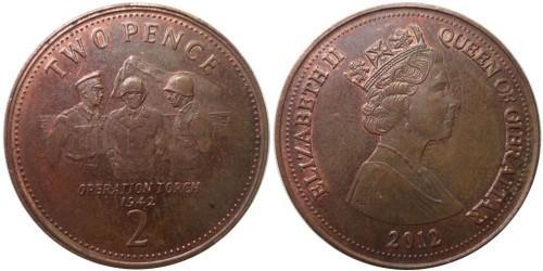 2 пенса 2012 Гибралтар — Операция «Торч» 1942