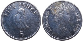 10 пенсов 2009 Гибралтар