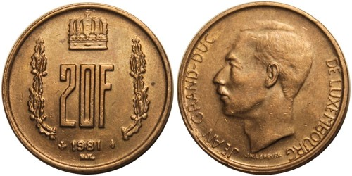 20 франков 1981 Люксембург