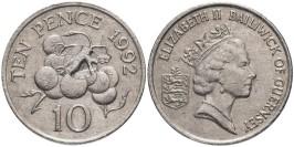 10 пенсов 1992 остров Гернси