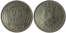 25 центов 1993 Белиз