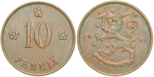 10 пенни 1940 Финляндия