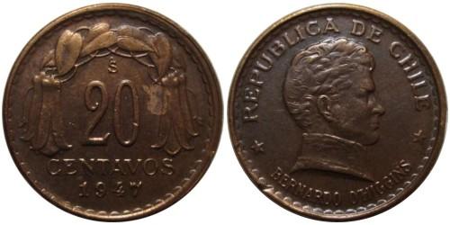 20 сентаво 1947 Чили