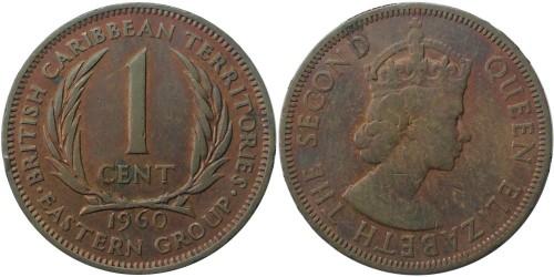 1 цент 1960 Восточные Карибы