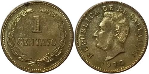 1 сентаво 1977 Сальвадор