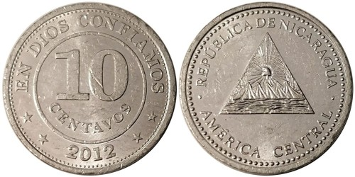 10 сентаво 2012 Никарагуа