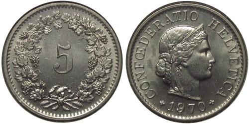 5 раппен 1970 Швейцария