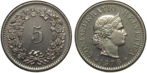 5 раппен 1978 Швейцария