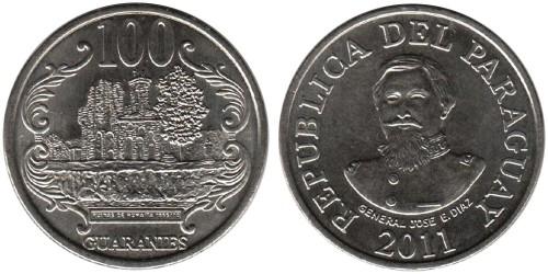 100 гуарани 2011 Парагвай