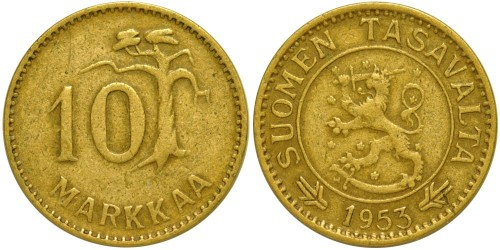10 марок 1953 Финляндия