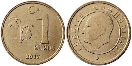 1 куруш 2017 Турция UNC
