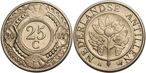 25 центов 2007 Нидерландские Антильские острова