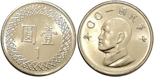 1 доллар 2011 Тайвань UNC