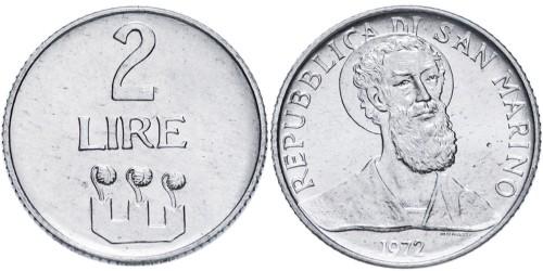 2 лиры 1972 Сан-Марино UNC