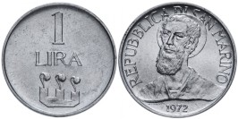 1 лира 1972 Сан-Марино UNC