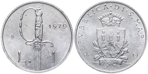 1 лира 1979 Сан-Марино — Институциональные органы государства UNC