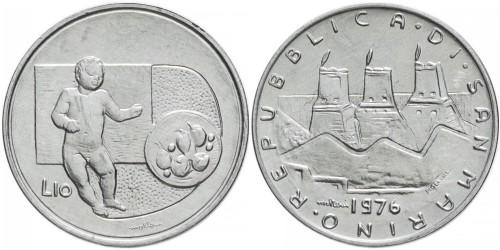 10 лир 1976 Сан-Марино — Республика UNC